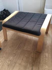 Ikea poang footstool, black