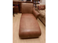 Tan REAL Leather Chaise Longue for Sale (used) £125