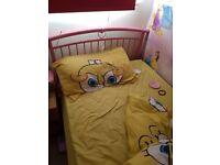 Girls pink heart bed