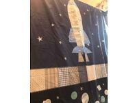 Next Spaceship single duvet and pillow