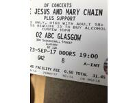 Jesus & Mary chain tickets x 2 £60 face value