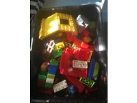 Lego DUPLO set with baseplate