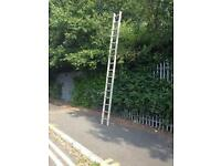 Good strong 16ft aluminium ladder £25
