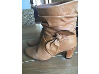 Oasis tanned ankle boots