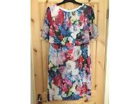 BNWT FLORAL MOTHER OF THE BRIDE DRESS SIZE 14