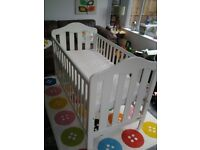 Mama's and Papa's cot bed with cot top changer and mattress in excellent condition