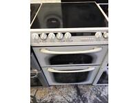 Hotpoint creda ceramic cooker 60cm white colour fully working order for sale