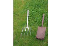 Spade and Graipe - both need new handles