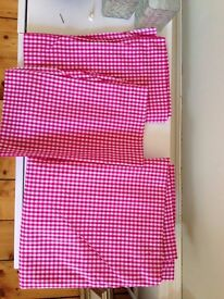 Unused Primark Double Bed Pink Gingham Fitted sheet & 2 pillowcases