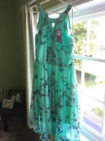 Butterfly Debenhams dress, brand new, size 16