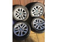BMW 3 series e90/91 alloy wheels 16 inch with quality runflats