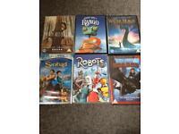 6 Assorted children's DVDs