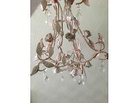 Modern shabby chic chandelier.