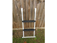 Trampoline ladder - white and black
