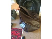 Large bean bag - brown faux leather