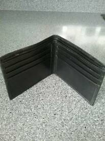 New black leather wallet