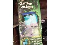 Twin outdoor garden sockets