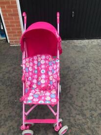 Pink mother care stroller