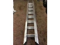 LYTE TRIPPLE 8 RUNG ALUMINIUM LADDER DIY INDUSTRIAL 1ST CLASS USED ONCE DECORATORS WINDOW CLEANING