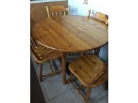 Solid wood Dining room table 4 chairs