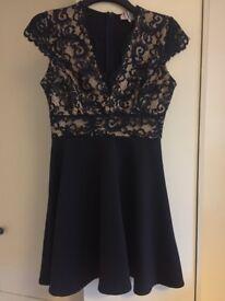 Jessica Wright at lipsy Size 12 Navy Lace dress