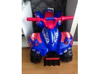 Kids battery operated quad bike as new