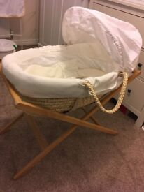 Mamas & Papas moses basket and folding stand