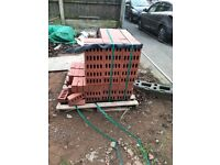 Red Engineering Bricks - 65mm around 500 left over from house build