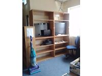 5 x Home or Office shelving units of various sizes, office storage, book shelves