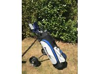 Power Bilt Golf Set: bag,trolly,clubs and more