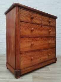 Large Victorian Chest Of Drawers (DELIVERY AVAILABLE FOR THIS ITEM OF FURNITURE)