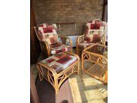 Cane conservatory furniture vgc