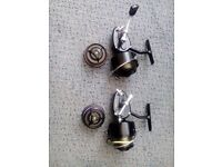 Two Mitchell 301s Reels, right hand wind