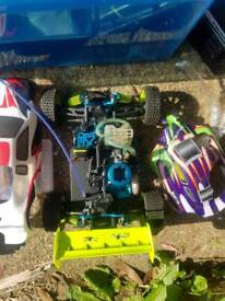 2x nitro rc cars and spares