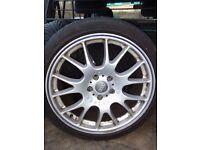 """4 Audi Motorsport 18"""" Wheels & Tyres. 5x112 will fit Audi, BMW, Mercedes, Volkswagen"""