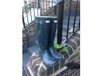 Women's Hunter Original Tall Gloss Wellington Boots - Size 4