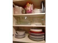 KITCHEN SET (plates, glasses, mugs, cutlery, cooking utensils...)