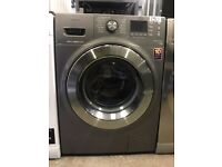 Samsung Ecobubble WF80F7E6U6X Washing Machine in Graphite