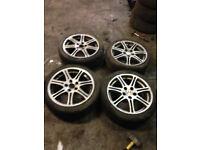honda civic type r ep3 standard 17''alloy wheels 01 to 06 set