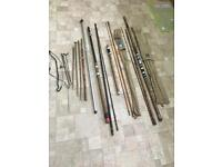 Vintage fishing rods and bits see pics