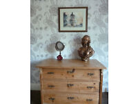 Antique Pine Chest of Drawers French Victorian Edwardian waxed