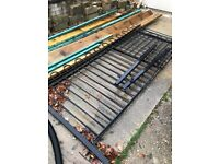 Black wrought iron fencing