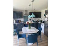 Beautiful Moores grey high gloss kitchen