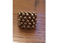 Men's 9ct gold keeper ring