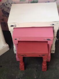 Nest Tables - Upcycled in Chalk Paint