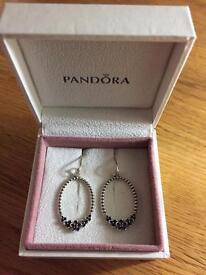 Pandora compose earrings Flower with stone