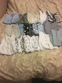 Bargain Baby boy up to 1 month/first size mainly next