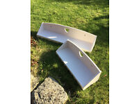 Vertbaudet Washed Pink Heart Wall Shelves, One 60cm and the other 90cm. Excellent condition!