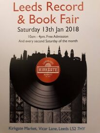 Leeds Record & Book Fair, Saturday 13th January (free admission) 10am-4pm