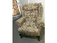 Wingback Armchair Parker Knoll Style Sofa Arm Chair Wing High Back Chair VGC